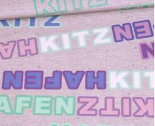 Jersey - HafenKitz - BlumenKitz - Kombistoff - Schrift - NIKIKO - abby and me