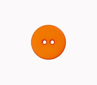 1 Polyesterknopf - Rund -  20mm - 2-Loch - Orange