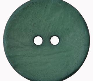 1 Polyesterknopf - Rund -  30mm - Leichte Struktur - 2-Loch - Tannengrün