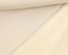 Alpenfleece - Kuschelstoff - Uni - Creme