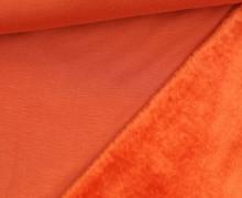 Alpenfleece - Kuschelstoff - Uni - Orange