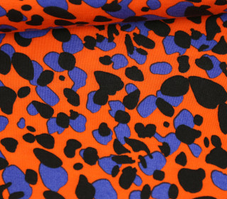 Tencel - Modal - Großes Leopardenmuster - Orange