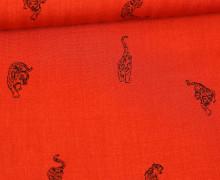 Viskose - Blusenstoff - Tiger - Orangerot