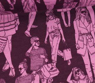 Kuschelsweat - Kaum Elastisch - Shopping Girls - Beere
