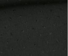 Viskose - Blusenstoff - Aufgestickte Kleine Noppen - Schwarz