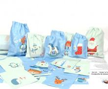 DIY- Adventskalender - Säckchen - Zum Selber Nähen - Hellblau Mint - Weihnachten - abby and me