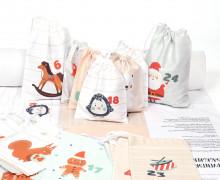 DIY- Adventskalender - Säckchen - Zum Selber Nähen - Weiß Mint Creme - Weihnachten - abby and me