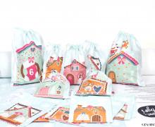 DIY- Adventskalender - Säckchen - Zum Selber Nähen - Lebkuchenhaus - Weihnachten - Anna Anjos - abby and me