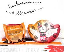 Kissenstoff - DIY - Fledermaus Mädchen - Kleine Sammeltasche - Sammelwimpel - Halloween - formenfroh - abby and me