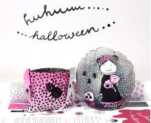 Kissenstoff - DIY - Kleines Mädchen - Kleine Sammeltasche - Sammelwimpel - Halloween - formenfroh - abby and me