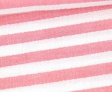 Musselin Matilda - Muslin - Streifen - Double Gauze - Weiß/ Rot