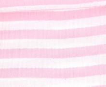 Musselin Matilda - Muslin - Streifen - Double Gauze - Weiß/ Rosa