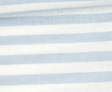 Musselin Matilda - Muslin - Streifen - Double Gauze - Weiß/ Hellblau