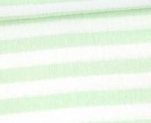 Musselin Matilda - Muslin - Streifen - Double Gauze - Weiß/ Hellgrün