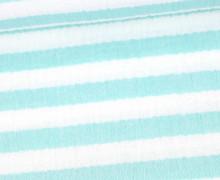 Musselin Matilda - Muslin - Streifen - Double Gauze - Weiß/ Türkis
