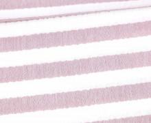 Musselin Matilda - Muslin - Streifen - Double Gauze - Weiß/ Dunkelrot