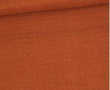 Musselin - Muslin - Double Gauze - Uni - 125g - Schnuffeltuch - Windeltuch - Rostorange
