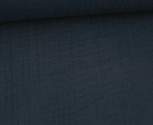 Musselin - Ida - Muslin - Triple Gauze - Uni - 240g - Schnuffeltuch - Windeltuch - Nachtblau