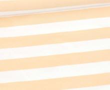 Sommersweat - French Terry - Preppy Stripe - Streifen - Weiß/Puder