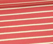 Sommersweat - French Terry - Lurex Streifen Gold - Altrot