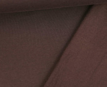 Kuschelsweat - Uni - Braun - Sweat Alva - geraut - Brushed