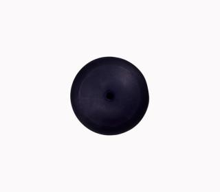 1 Polyesterknopf - Kugel -  9mm - Öse - Glanz - Schwarzblau