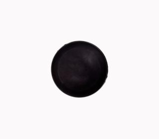 1 Polyesterknopf - Kugel -  11mm - Öse - Glanz - Schwarz