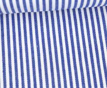 Jeans-Stoff - Schmale Streifen - Gestreift - Nicht Elastisch - Weiß/Blau