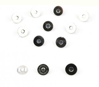 10 Magnetverschlüsse - 18mm - Silber