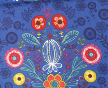 Dekostoff Ottoman - Baumwollmischgewebe - Blumenstrauß - Flower - Blau