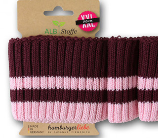 Bio-Bündchen - Cozy Stripes - Grobstrick - Bliss - Multi - Cuff Me - Hamburger Liebe - Aubergine