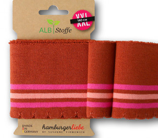 Bio-Bündchen - Wave - Wellenrand - 3Stripes - Bliss - Multi - Cuff Me - Hamburger Liebe - Orangebraun