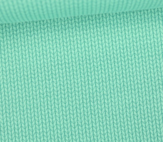 Bio-Jacquard - 3D - Knit Knit - Bliss - Mint - Hamburger Liebe