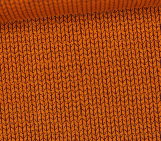 Bio-Jacquard - 3D - Knit Knit - Bliss - Orange Dunkel - Hamburger Liebe