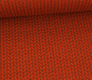 Bio-Jacquard - 3D - Big Knit - Bliss - Orange Dunkel - Hamburger Liebe