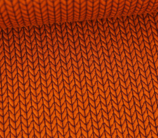 Bio-Jacquard - 3D - Big Knit - Bliss - Orange - Hamburger Liebe