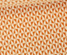 Bio-Jacquard Jersey - 3D - Windmill Knit - Bliss - Orange Dunkel/Warmweiß - Hamburger Liebe