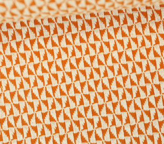Bio-Jacquard Jersey - 3D - Windmill Knit - Bliss - Orange Dunkel/Warmweiß - Hamburger Liebe