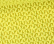 Bio-Jacquard Jersey - 3D - Windmill Knit - Bliss - Maisgelb/Hellgelb - Hamburger Liebe