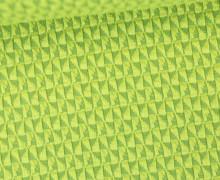 Bio-Jacquard Jersey - 3D - Windmill Knit - Bliss - Grün/Kiwigrün - Hamburger Liebe