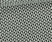 Bio-Jacquard Jersey - 3D - Windmill Knit - Bliss - Schwarz/Weiß - Hamburger Liebe
