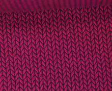 Bio-Jacquard - 3D - Knit Knit - Bliss - Beere - Hamburger Liebe