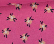 Bio-Jacquard Jersey - Violet - Blüten - Bliss - Pink - Hamburger Liebe