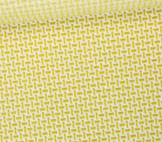 Bio-Jacquard Jersey - 3D - Webster Knit - Bliss - Creme/Olivgelb - Hamburger Liebe