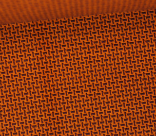 Bio-Jacquard Jersey - 3D - Webster Knit - Bliss - Orange Dunkel/Aubergine - Hamburger Liebe