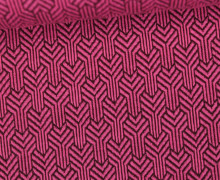 Bio-Jacquard Jersey - 3D - Ginko Knit - Bliss - Pink/Lila - Hamburger Liebe