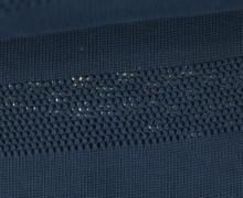 Bio-Lochstrick - Stripe Knitty - Bliss - Nachtblau - Hamburger Liebe