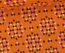 Bio-Jacquard Jersey - And Sparkle - Bliss - Orange Dunkel - Hamburger Liebe