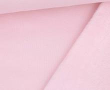 Alpenfleece - Kuschelstoff - Uni - Babyrosa