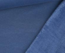 Alpenfleece - Kuschelstoff - Uni - Taubenblau
